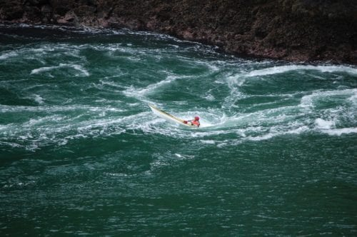Learning to kayak in a whirlpool, Deception Pass