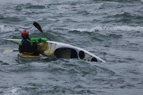 Kayak safety courses, Anacortes, Washington