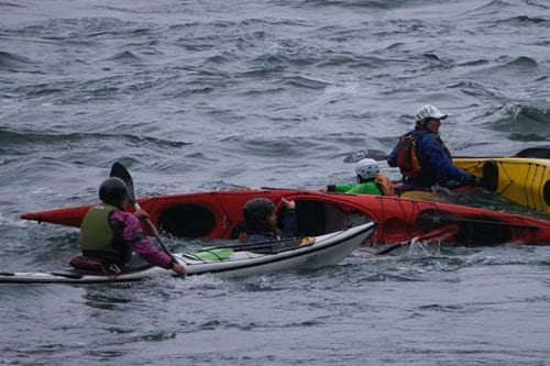 kayak skills instruction, San Juan Islands, Washington