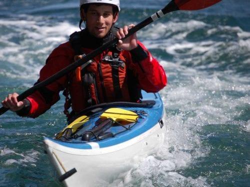 Kayak class in Deception Pass, Washington State