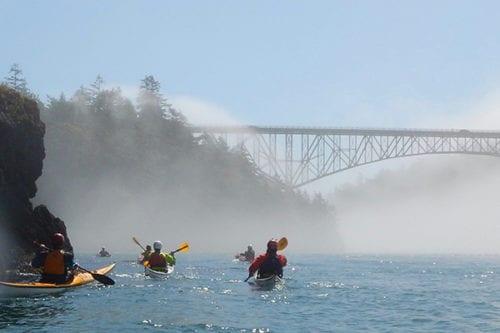Kayak classes in Deception Pass, Washington State