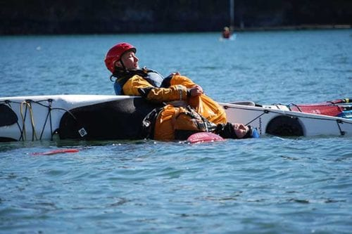 Safety and Rescue kayak class, near Seattle Washington