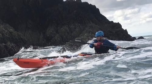 Sea kayaking with Ryan Hayes, Coach at Body Boat Blade