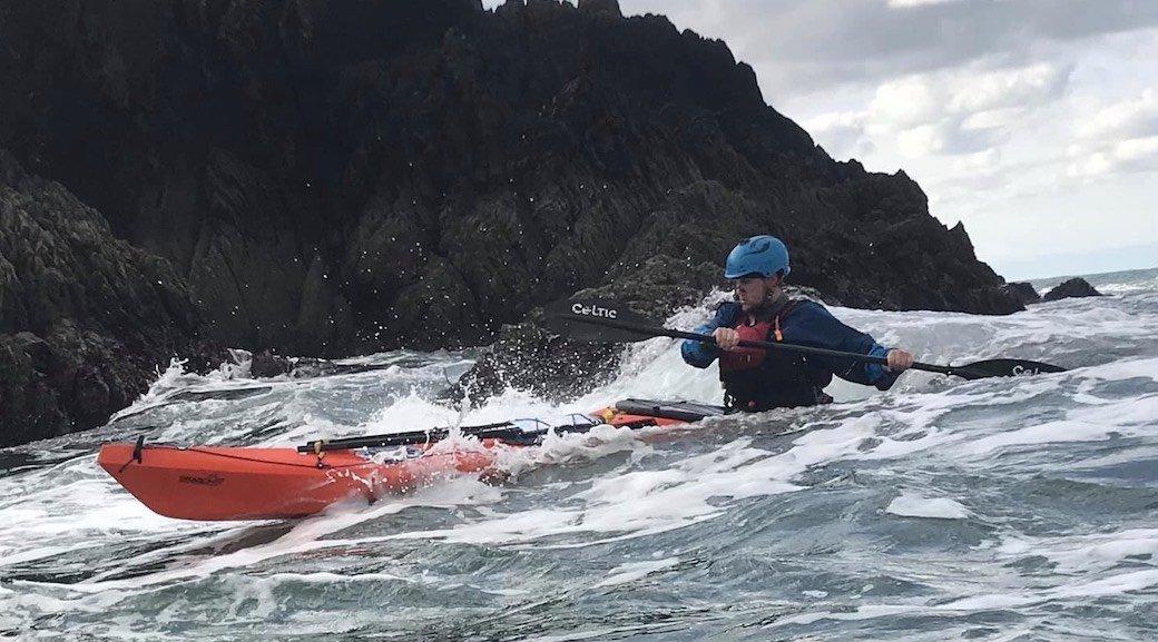Sea kayaking with Ryan Hayes, Coach at Body Boat Blade
