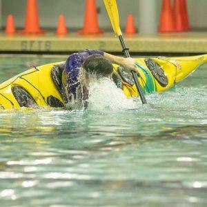 Kayak rolling classes, pool class
